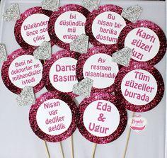 Pembe Kurdele Sevda hanımın nişan pankartlarını hazırladı   www.pembekurdele.net