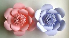 How To Make Paper Flowers - Paper Flower tutorial - Step by Step -