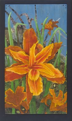Day Lilies, Paper Cutting, My Arts, Lily, Art Prints, Orange, Painting, Color, Design
