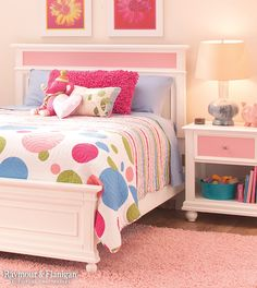 To add a little playfulness to your palette, think pink! It's such a sweet, lighthearted color, so it's perfect for a little girl's room.