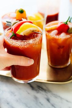Homemade Bloody Marys are so easy to make with this simple, delicious recipe! #bloodymary #bloodymaryrecipe #bloodymarymix #brunchcocktail