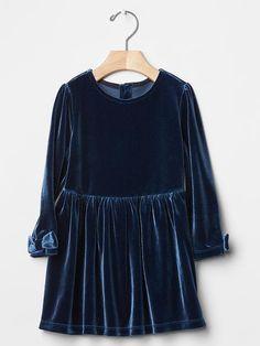 Velvet bow-sleeve dress | Gap