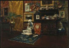 William Merritt Chase (1849-1916, USA; the tile club) | Studio Interior, ca. 1882