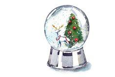 Watercolor Christmas clipart set - Illustrations - 4