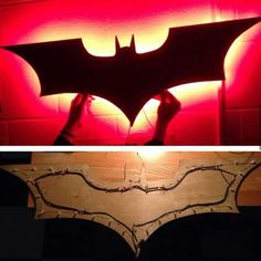 Cool idea I found on the internet. You can use cheap material ie Christmas lights and plywood cut into whatever symbol and pin lights on