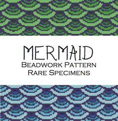 Mermaid Peyote Stitch Beadwork Pattern  Cuff by RareSpecimens
