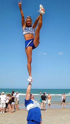 beautiful heel stretch. I miss cheer leading.