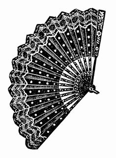 Illustrazioni in Bianco e Nero: Ventagli Vintage - Illustrations in Black and White: Vintage Fans