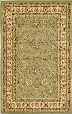 Agra Green Area Rug