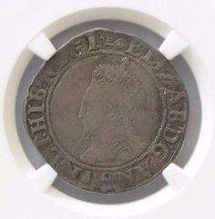 1582-83 Great Britain England 1 Shilling; NGC VF Deatils Elizabeth I