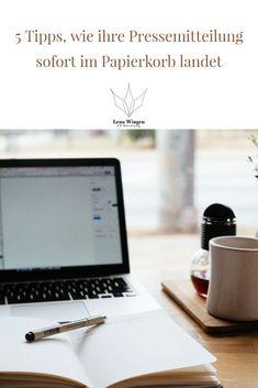 Erfahren Sie hier fünf Gründe dafür, dass Ihre Pressemitteilung garantiert niemand nimmt, geschweige denn jemals lesen wird. Public Relations, Social Media Marketing, Content Marketing, Entrepreneurship, Lifestyle, Female, Press Release, Paper Basket, Helpful Tips