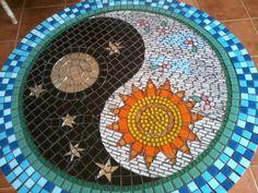 ❤~Yin y Yang~❤   Mesa de Mosaicos