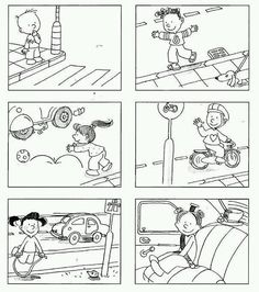learn road safety for kids Teaching Safety, Story Starter, Transportation Theme, Worksheets For Kids, Literacy Centers, Health And Safety, Pre School, Life Skills, Preschool Activities