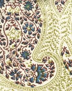 Giant Traditional Paisley cotton Chaddhar (scarf)print from India.