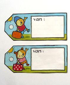 Labels van Pompom en Nana.