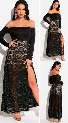 Black Stitching Design Off The Shoulder Long Sleeves Maix Lace Dress HOT SALES 2020, beautiful dresses, pretty dresses, holiday fashion, dresses outfits, dress, cute dresses, clothes, classy & elegant, elegant style, mode trends 2020, trending, fashion, fashion looks, moda, women, beautiful, beauty, buy, sale, shop, shopping, vestidos elegantes, vestidos fofos, vestidos bonitos