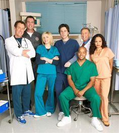 """""""Scrubs"""" - Zach Braff, Sarah Chalke, Donald Faison, Neil Flynn and Ken Jenkins. (2001-2010)"""
