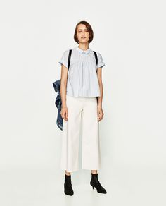 Discover the new ZARA collection online. The latest trends for Woman, Man, Kids and next season's ad campaigns. Zara Tops, Vintage Outfits, Bow Tops, Girls Show, Colourful Outfits, Zara Women, Normcore, Couture, Clothes For Women