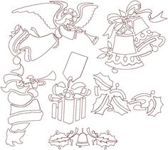 Advanced Embroidery Designs - Christmas Quilting Set