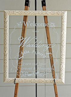 """Framed Glass Ivory Tribal 20"""" x 24"""""""
