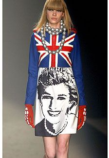Britain Union Jack Dress, Princess Diana, Parisian, Jeans, Graphic Sweatshirt, Castelbajac, Sweatshirts, Sweaters, Britain