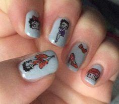 Betty Boop nails  (November 2015)