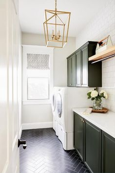 White Laundry Rooms, Mudroom Laundry Room, Laundry Room Remodel, Laundry Room Cabinets, Laundry Room Design, White Rooms, Laundry Room Floors, Laundry Room Makeovers, Laundry Area