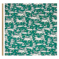 Buy Oddies Textiles Highland Stag Print Fabric, Green from our Dress Fabrics & Fat Quarters range at John Lewis & Partners. Curtain Lining, Lined Curtains, Festive Crafts, Printing On Fabric, Textiles, Green, Prints, Design, Fabric Printing