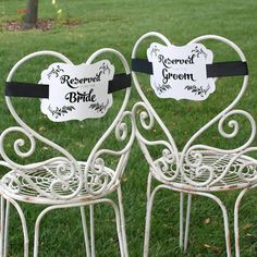 Bride & Groom Reserved Chair Decorations