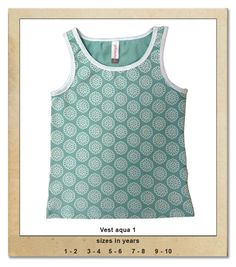 Sillybilly© clothing: Vest aqua 1 Summer Collection, Aqua, Vest, Tank Tops, Girls, Clothing, Women, Fashion, Outfits