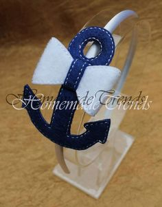 Nautical 3D Bow Headband by HomemadeTrends on Etsy, $7.50: