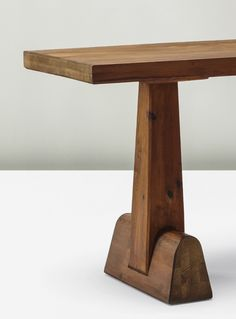 Axel Einar Hjorth,Utö dining table, circa 1932. Material pine wood.Manufactured by Nordiska Kompaniet, Sweden. Hjorth had a strong primitive modernist period during 1930s and Utö is part of this period. / Phillips