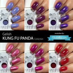 Gelish Kung Fu Panda Collection Swatches by Chickettes.com