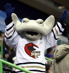 Corpus Christi IceRays mascot | Video: Hockey Fight With Goalie Fight - Corpus Christi Icerays vs ...