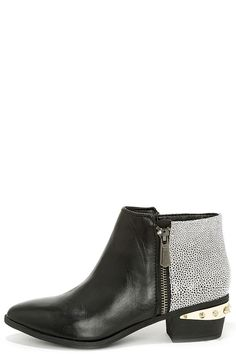 Circus by Sam Edelman Holt Black and White Leather Ankle Boots