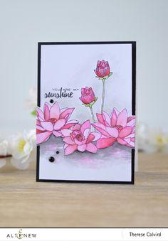 Lostinpaper - Altenew Lotus - Best Mom August Challenge Inspiration (video)