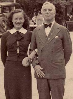Paulette Goddard with husband Charlie Chaplin