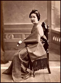 1870s.  A HIGH-CLASS PORTRAIT from OLD JAPAN