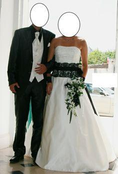 Robe de mariée ivoire et noire marque Belle modèle Allégorie - Gironde