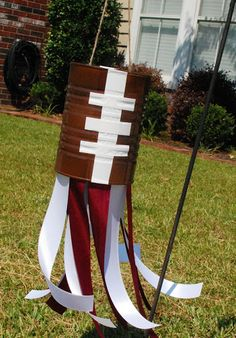 Football windsock for fall decor? My three boys will love making these!!!