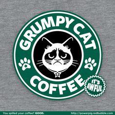 Grumpy coffee logo - Starbucks knock off