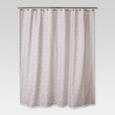 Geometric Burnout Shower Curtain Tan - Threshold™ - $24.99. : Target