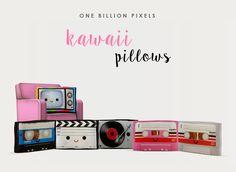 One Billion Pixels: Kawaii Pillows (The Sims 3)