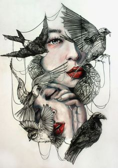 Birds of a feather flock together.  Spiral Trails — rfmmsd: Artist: Gaia Alari  (aka)  Marie-Esther...
