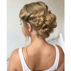 I love styling pretty hair. #weddinghair #heatherchapmanhair #modernsalon #updo #bride #educator