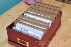 A Vegas Girl at Heart: Clear Stamp Storage