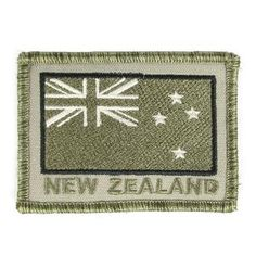 Flags, Badges & Insignia | Army & Outdoors  NZ Subdued Velcro Patch This patch features the New... Velcro Patches, Flag Patches, Samoan Flag, South African Flag, New Zealand Flag, Silver Fern, Army Gifts, Australian Flags, Kiwiana