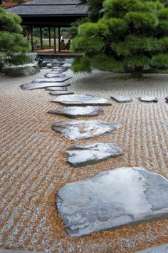 Japanese Zen Garden by IainInJapan. on Japanese Zen Garden by IainInJapan. Japanese Garden Zen, Zen Rock Garden, Rock Garden Design, Japan Garden, Japanese Landscape, Garden Stones, Japanese Gardens, Dry Garden, Beautiful Gardens