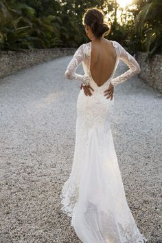 Beautiful wedding dress inspiration, unconventional wedding dresses,boho wedding dress - Don't miss the best bohemian wedding dresses,off the shoulder wedding gown Dream Wedding Dresses, Boho Wedding, Bridal Dresses, Wedding Gowns, October Wedding Dresses, Fitted Wedding Dresses, Backless Lace Wedding Dress, Lace Weddings, Trendy Wedding