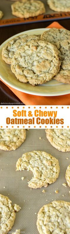 Soft & Chewy Oatmeal Cookies- these are the BEST oatmeal cookies!